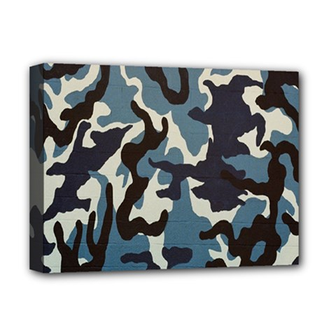 Blue Water Camouflage Deluxe Canvas 16  X 12   by Nexatart