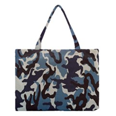Blue Water Camouflage Medium Tote Bag by Nexatart
