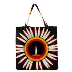 Candle Ring Flower Blossom Bloom Grocery Tote Bag by Nexatart