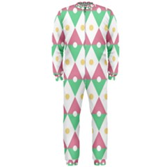 Diamond Green Circle Yellow Chevron Wave Onepiece Jumpsuit (men)  by Alisyart