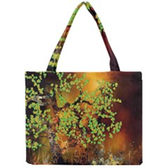 Backdrop Background Tree Abstract Mini Tote Bag by Nexatart