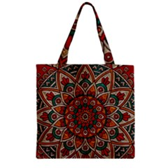 Background Metallizer Pattern Art Zipper Grocery Tote Bag by Nexatart