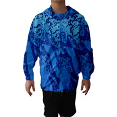 Background Tissu Fleur Bleu Hooded Wind Breaker (kids) by Nexatart
