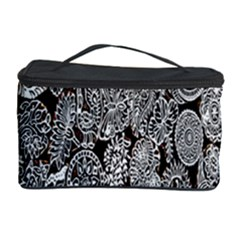 Black And White Art Pattern Historical Cosmetic Storage Case by Nexatart