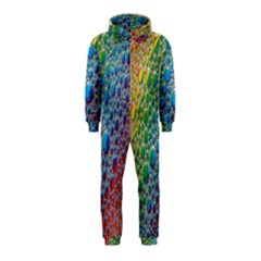 Bubbles Rainbow Colourful Colors Hooded Jumpsuit (kids) by Nexatart