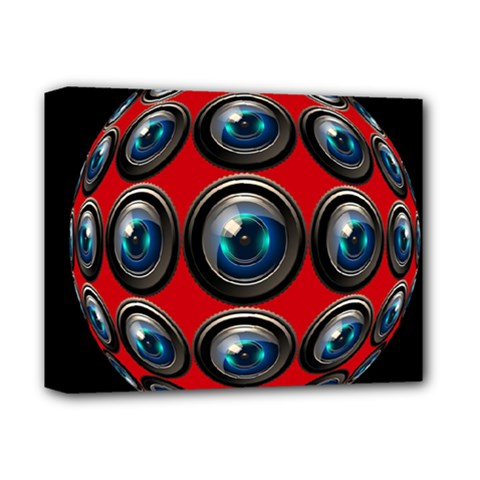 Camera Monitoring Security Deluxe Canvas 14  x 11  by Nexatart