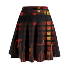 Christmas Advent Gloss Sparkle High Waist Skirt by Nexatart