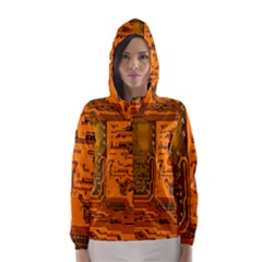 Circuit Hooded Wind Breaker (women) by Nexatart