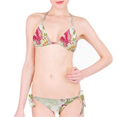Floral Pattern Background Bikini Set