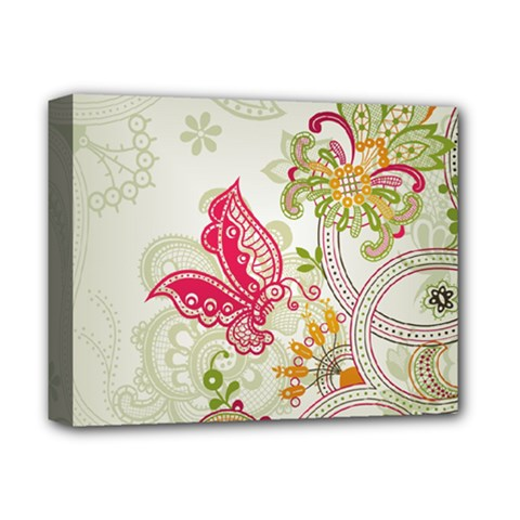 Floral Pattern Background Deluxe Canvas 14  x 11  by Nexatart