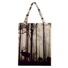 Forest Fog Hirsch Wild Boars Classic Tote Bag by Nexatart