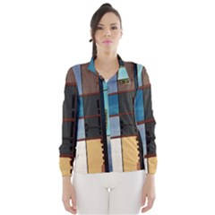 Glass Facade Colorful Architecture Wind Breaker (women) by Nexatart