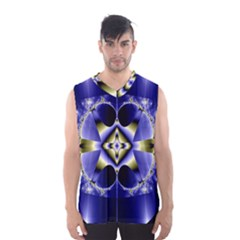 Fractal Fantasy Blue Beauty Men s Basketball Tank Top by Nexatart