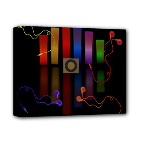 Energy of the sound Deluxe Canvas 14  x 11  by Valentinaart