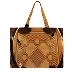 Mosaic The Elaborate Floor Pattern Of The Sydney Queen Victoria Building Zipper Large Tote Bag by Nexatart