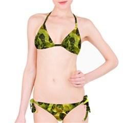 Olive Seamless Camouflage Pattern Bikini Set