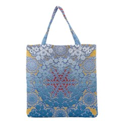 Pattern Background Pattern Tile Grocery Tote Bag by Nexatart