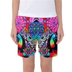 Meditation Aid   Women s Basketball Shorts by tealswan