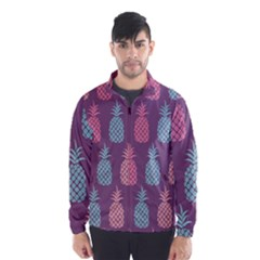 Pineapple Pattern  Wind Breaker (men) by Nexatart
