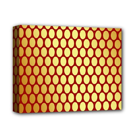 Red And Gold Effect Backing Paper Deluxe Canvas 14  X 11  by Nexatart
