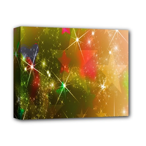 Star Christmas Background Image Red Deluxe Canvas 14  x 11  by Nexatart