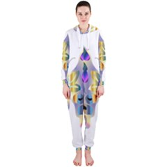 Abstract Animal Art Butterfly Hooded Jumpsuit (ladies)