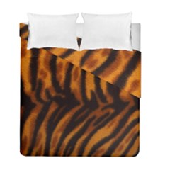 Animal Background Cat Cheetah Coat Duvet Cover Double Side (full/ Double Size) by Amaryn4rt