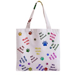 Animals Pets Dogs Paws Colorful Grocery Tote Bag