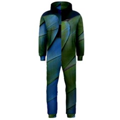 Feather Parrot Colorful Metalic Hooded Jumpsuit (men)