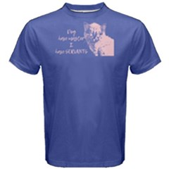 Purple cats have servants  Men s Cotton Tee by FunnySaying