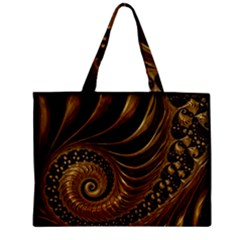 Fractal Spiral Endless Mathematics Zipper Mini Tote Bag