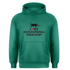 Green I Love My Occupational Therapist  Men s Pullover Hoodie by FunnySaying