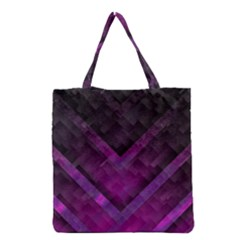 Purple Background Wallpaper Motif Design Grocery Tote Bag