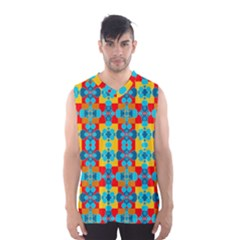 Pop Art Abstract Design Pattern Men s Basketball Tank Top by Amaryn4rt