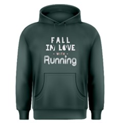 Fall In Love With Running   Men s Pullover Hoodie by FunnySaying