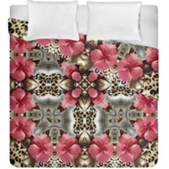 Flowers Fabric Duvet Cover Double Side (king Size) by Amaryn4rt