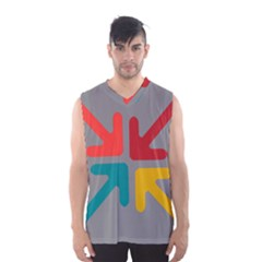 Arrows Center Inside Middle Men s Basketball Tank Top by Amaryn4rt