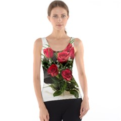 Red Roses Roses Red Flower Love Tank Top