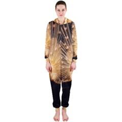 3d Beautiful Peacock Hooded Jumpsuit (ladies)
