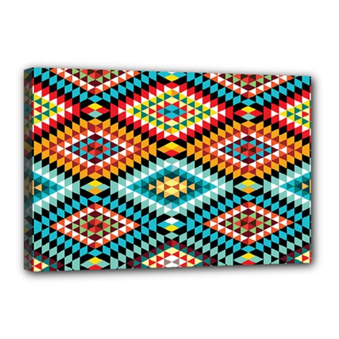 African Tribal Patterns Canvas 18  X 12  by Amaryn4rt
