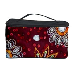 India Traditional Fabric Cosmetic Storage Case by Amaryn4rt