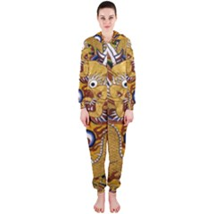 Chinese Dragon Pattern Hooded Jumpsuit (ladies)