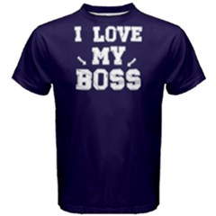 I love my boss - Men s Cotton Tee by FunnySaying