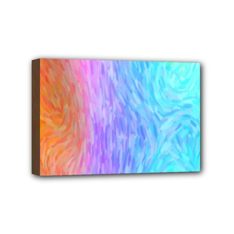 Abstract Color Pattern Textures Colouring Mini Canvas 6  X 4