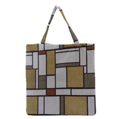 Fabric Textures Fabric Texture Vintage Blocks Rectangle Pattern Grocery Tote Bag by Simbadda