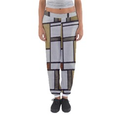 Fabric Textures Fabric Texture Vintage Blocks Rectangle Pattern Women s Jogger Sweatpants by Simbadda
