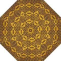 Golden Pattern Fabric Straight Umbrellas by Onesevenart