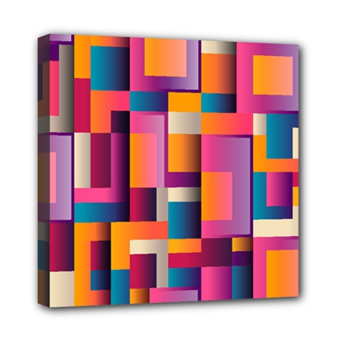 Abstract Background Geometry Blocks Mini Canvas 8  X 8  by Simbadda