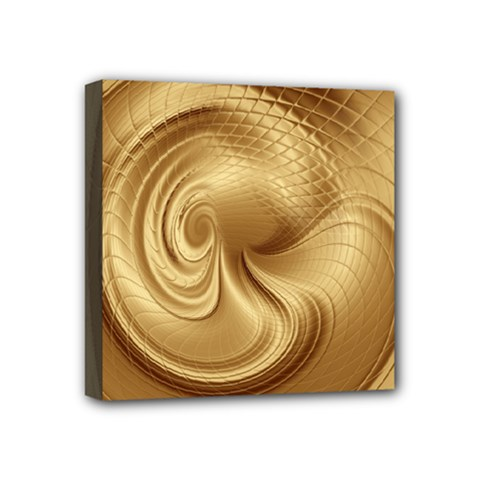 Gold Background Texture Pattern Mini Canvas 4  X 4  by Simbadda