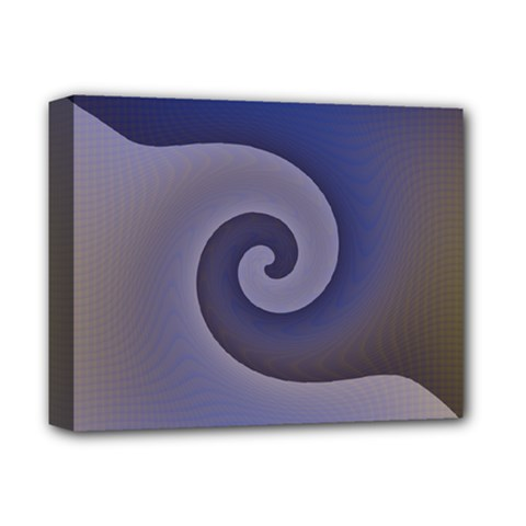 Logo Wave Design Abstract Deluxe Canvas 14  x 11  by Simbadda